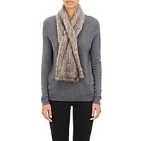 Barneys New York Women's Fur Pull Through Scarf Light Grey