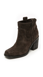 Belle By Sigerson Morrison Lagoon Square Toe Booties Black