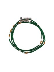 M Cohen M. Cohen Stacked Jade Bead Bracelet Green
