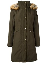 Michael Michael Kors Padded Parka Coat Green