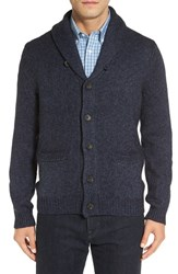 Nordstrom Men's Men's Shop Cotton Blend Shawl Collar Cardigan Blue Vintage Melange