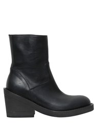 Ann Demeulemeester 70Mm Leather Ankle Boots
