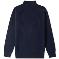 Nanamica High Neck Sweater Blue