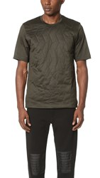 Z Zegna Padded Front Mercerized Tee Army Green