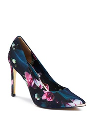 Ted Baker Neevo Floral Point Toe Pumps Blue Multi