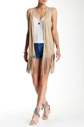 Kensie Faux Suede Vest Brown