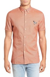 Barney Cools Men's 'Excursion' Extra Trim Fit Short Sleeve Woven Shirt