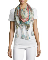 Endo Silk Printed Scarf Multi Johnny Was Collection