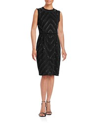 Rachel Roy Embellished Sheath Dress Black