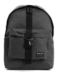 Topman Nicce Grey Buckle Backpack