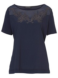 Betty Barclay Embellished Top Navy Blue