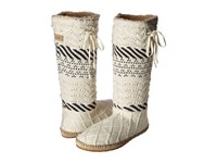 Sanuk Snuggle Up Lx Natural Sweater Women's Pull On Boots Gray