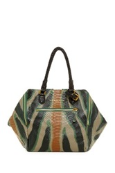 Liebeskind Beau Wild Zebra Leather Handbag Green