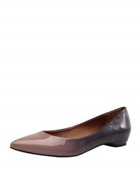 Carrano Justice Patent Leather Flat Purple Pattern