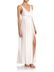 Jonquil Elena Lace Trim Gown Ivory