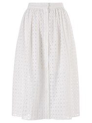 Alice By Temperley Somerset By Alice Temperley Basket Weave Skirt White