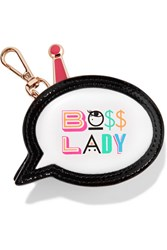 Sophia Webster Boss Lady Printed Leather Coin Purse White