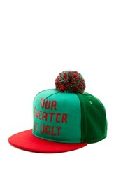 Bioworld Ugly Sweater Pompom Baseball Cap Green