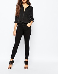 Current Elliott Current Elliott Super Low Rise Ankle Skinny Jeans Black
