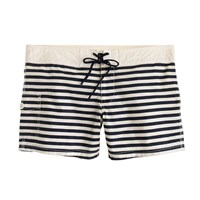 J.Crew Board Short In Classic Stripe Navy Ivory