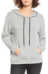 Michelle By Comune Women's Cove French Terry Hoodie Heather Grey