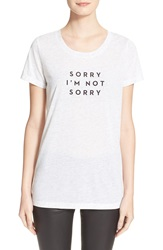 Milly 'Sorry I'm Not Sorry' Graphic Tee Heather Grey