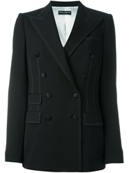 Dolce And Gabbana Double Breasted Blazer Black
