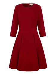 Yumi Crepe Midi Dress Burgundy