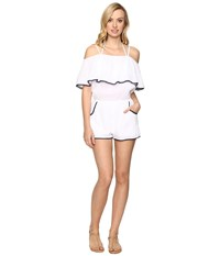 Becca Inspired Romper Cover Up White Women's Jumpsuit And Rompers One Piece