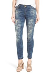 Women's Kut From The Kloth 'Reese' Distressed Camo Print Stretch Ankle Straight Leg Jeans Equality