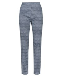 Jaeger Diamond Ikat Print Trousers Navy