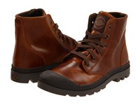 Palladium Pampa Hi Leather Sunrise Chocolate Men's Lace Up Boots Brown