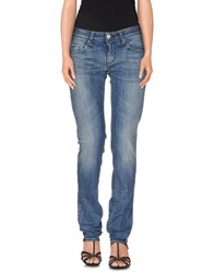 Care Label Denim Denim Trousers Women Blue