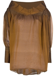 Gianfranco Ferre Vintage Oversized Blouse Brown