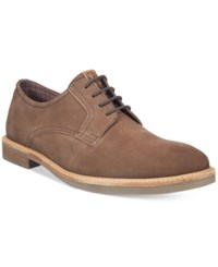 Ben Sherman Men's Birk Plain Toe Oxfords Men's Shoes Brown