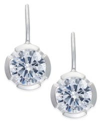 Thomas Sabo White Crystal Drop Earrings In Sterling Silver