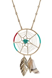 Aurelie Bidermann Aurelie Bidermann Dreamcatcher Gold Plated Pendant Necklace