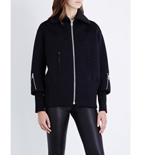 Junya Watanabe Collared Neoprene Jacket Black