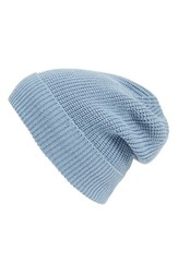 Women's Phase 3 'Stand Up' Basket Knit Slouchy Beanie Blue Blue Chambray