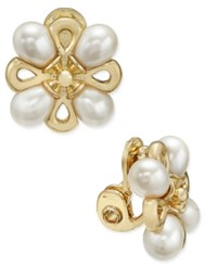 Charter Club Gold Tone Imitation Pearl Cluster Clip On Earrings Only At Macy's