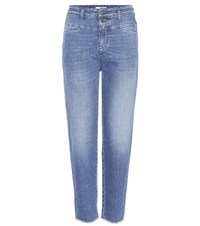 Closed Pedal Icon 85 High Rise Cropped Boyfriend Jeans Blue