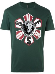 Versus Lion Patch T Shirt Green