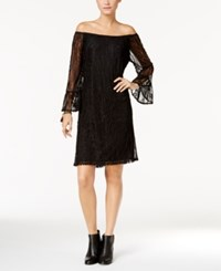 Styleandco. Style Co. Off The Shoulder Lace Dress Only At Macy's Deep Black
