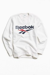 Reebok Vector Crew Neck Sweatshirt White