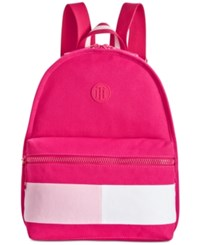 Tommy Hilfiger Colorblock Canvas Basic Backpack Fuschia