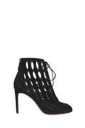 Alaia Lace Up Boots Black