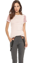 Edith A. Miller Combo Crew Neck Tee Black Rose Spruce Sailor Combo