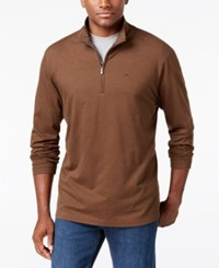 Tommy Bahama Men's Shadow Cove Half Zip Sweatshirt A Macy's Exclusive Style Light Pure Chocolate