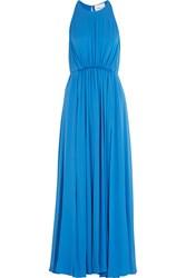 3.1 Phillip Lim Gathered Silk Crepe Gown Blue