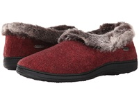 Acorn Faux Chinchilla Collar Crackleberry Women's Slippers Burgundy